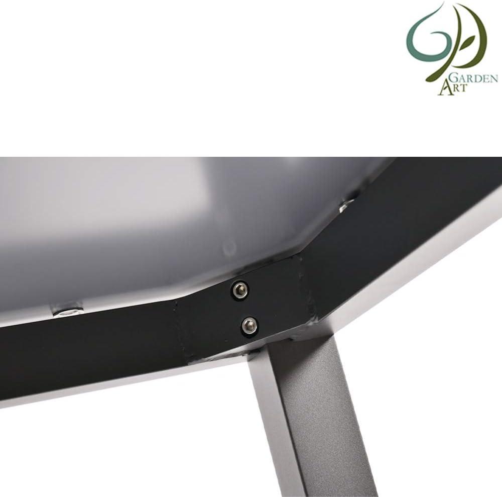 Jardin Art Side Table Pliante Lappbar Balcon Fleur Tabouret en Aluminium r/ésistant aux intemp/éries Meubles de Jardin