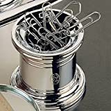 El Casco Chrome Magnetic Paper Clip Pot M-657CT, Silver
