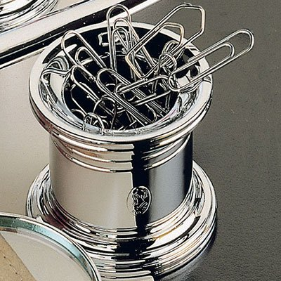 El Casco Chrome Magnetic Paper Clip Pot M-657CT, Silver by El Casco