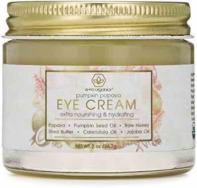 Rejuvenating Eye Cream (2oz.) Extra Nourishing & Moisturizing USDA Organic Anti Aging Eye Treatment for Dark Circles, Under Eye Bags, Puffiness & Wrinkles with Jojoba Oil, Argan Oil & More