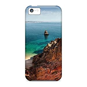 end For Iphone 4/4s(small Beach Along The Coast) High-definition cell phone skin covers miao's Customization case