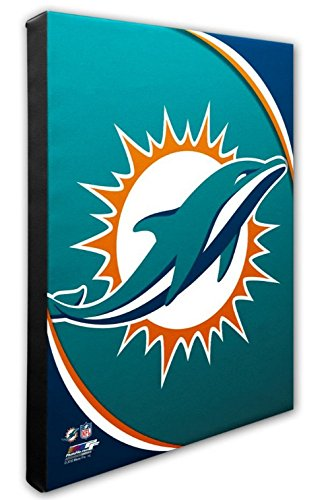 Photo File Miami Dolphins Team Logo Canvas Print Picture Artwork 16x20 NFL -