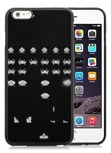 Case For iPhone 6 Plus,Space Invaders retro games Black iPhone 6 Plus (5.5) TPU Case Cover
