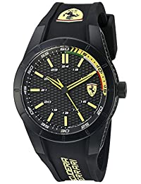 Ferrari Men's 'Redrev' Quartz Black Casual Watch (Model: 0830302)
