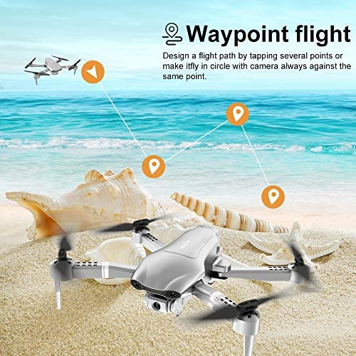 4DRC F3 GPS Drone 4K with FPV Camera Live Video,Foldable Drone for Adults,RC Quadcopter for Beginners,with Auto Return Home, Follow Me,Dual Cameras,Waypoints, Long Control Range,1 Extra Battery+Pack 51wY7yM 5zL