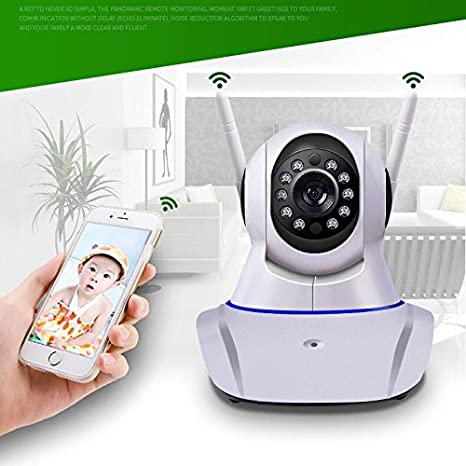 720P EASYLIFE IP Camera 720P//960P//1080P Network IP Camera with Two Way Audio Remote Wireless Baby Monitor P2P Cloud Link Night Vision WiFi IP Camera CCTV Surveillance with 355/° Pan//Tilt