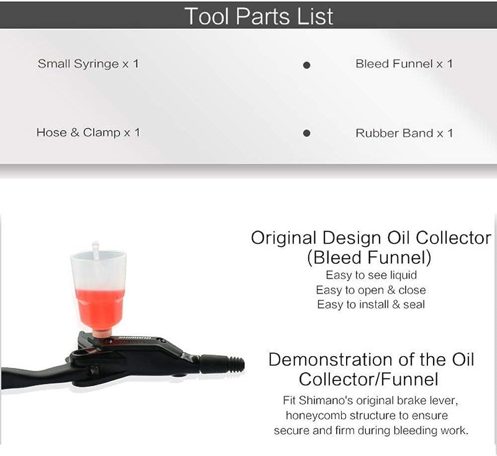 Hydraulic Brake Bleed Kit for Shimano Mineral Oil Brakes Funnel Bike Repair Tool