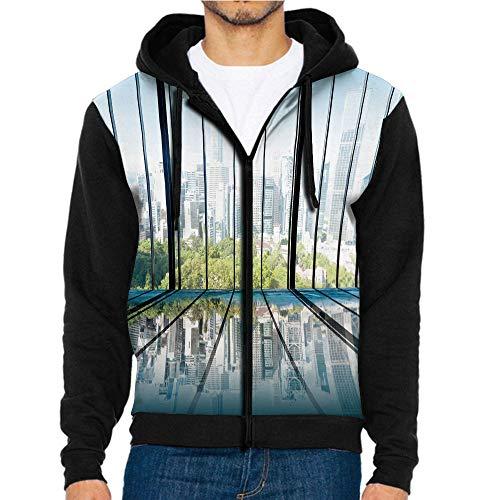3D Printed Hoodie Sweatshirts,Metropolitan City Scenery,Hoodie Casual Pocket Sweatshirt