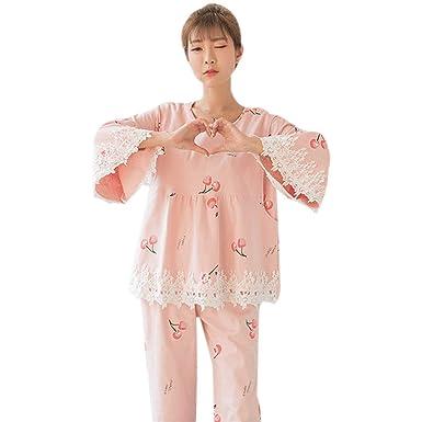 d56e7690614 BOZEVON Womens Maternity   Nursing Pyjama Set Spring Autumn Pregnancy  Sleepwear Pink