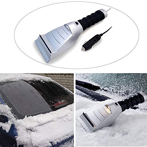 - Ice Scraper Heated with Flashlight for Windows Windshields Snowmobiles Winter Snow