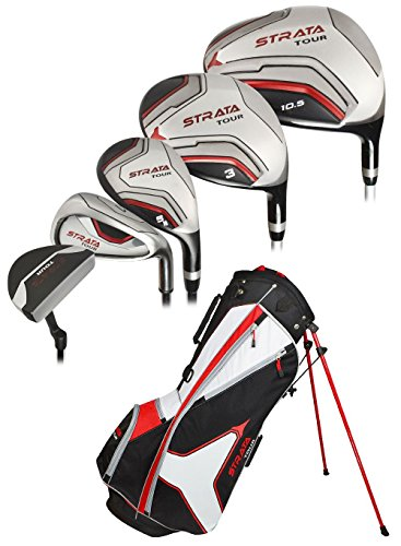 Callaway-Strata-Tour-Complete-Set-DR-3W-5W-4H-5H-6I-7I-8I-9I-PW-SW-Putter-Bag-5-Head-Covers