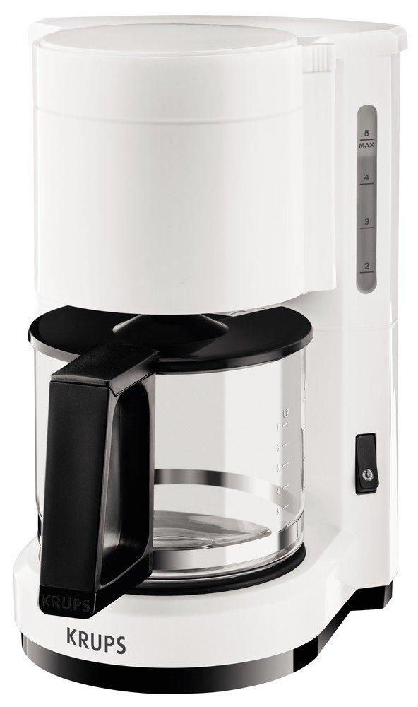 Krups F1830110Aroma - Caffettiera, 6tazze, 24,6x 19,40x 27,8cm, colore: bianco/nero
