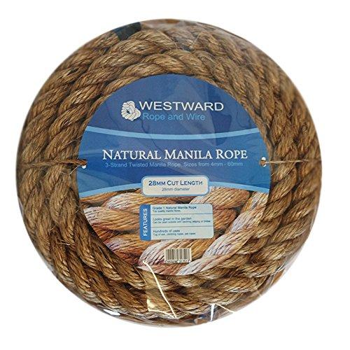 Manila Natural Rope 28mm x 5 Metres Westward Ropes/® Decking Rope