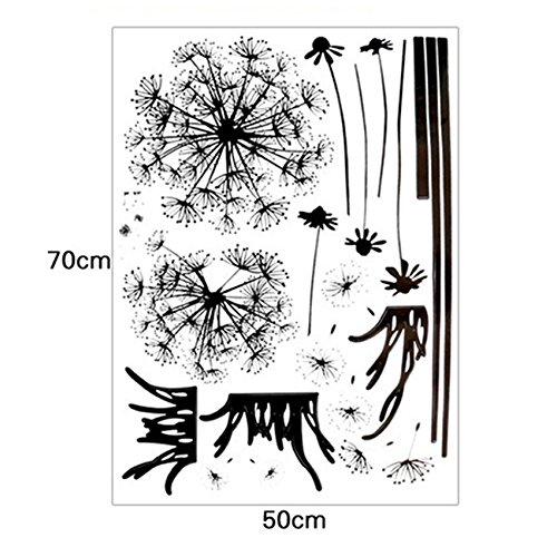 Wall Stickers, E-Scenery Grand Sale! Dandelion Removable DIY 3D Wall Decals Mural Art Wallpaper for Room Home Nursery Wedding Party Birthday Office Window Decor, Black by E-Scenery Wall Stickers & Murals (Image #5)