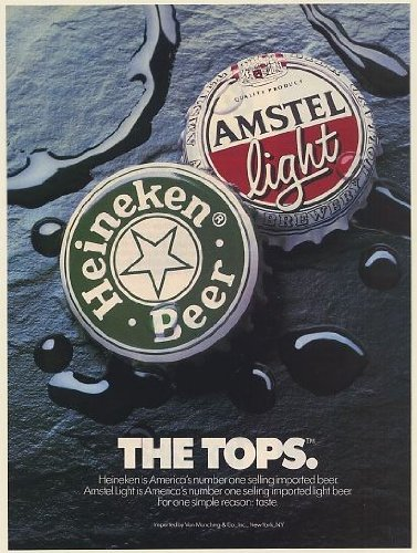 1990-heineken-beer-amstel-light-bottle-caps-the-tops-number-1-imported-print-ad-memorabilia-57880