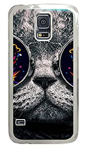 Cat 26-Wallpaper Clear Hard Case Cover Skin For Samsung Galaxy S5 I9600