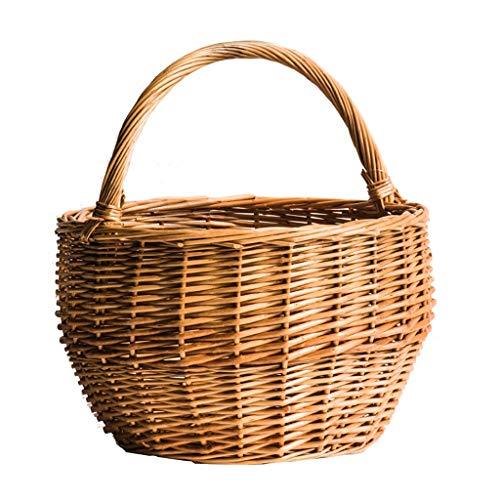- JSFQ Natural Handmade Storage Basket, Egg Basket, Cabbage, Blue Flower Basket, Picnic Bread, Fruit Basket, Wicker Storage Basket