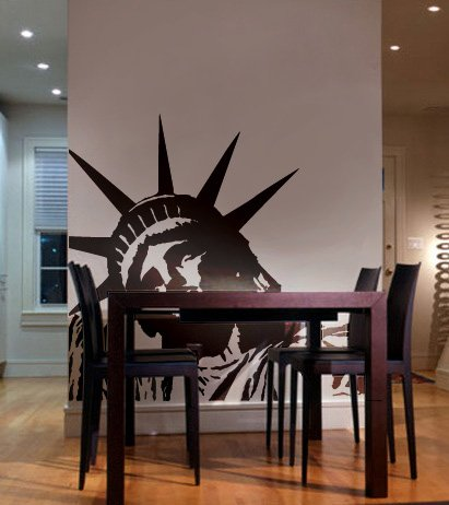 Amazon.com: Vinyl Wall Art Decal Sticker Statue Of Liberty Huge (BLACK  Color) 8ft X 5ft #122: Automotive