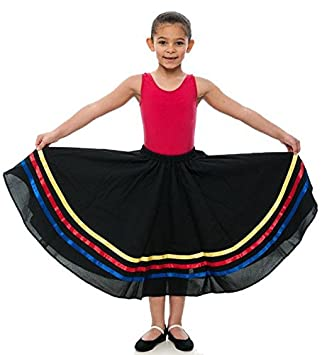 Girls All Colours Pink Lilac Yellow Red Blue Ribbon RAD Character Skirt Dance Ballet All Sizes By Katz Dancewear