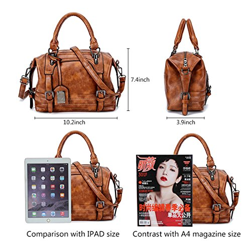 Alovhad Purse PU Tote Crossbody hobo Leather Shoulder Women Pink Handbags Shoulder Retro Bag Handle Bags Top Vintage qUXfxUwrP