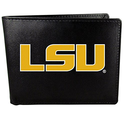 (Siskiyou NCAA LSU Tigers Bi-Fold Wallet Logo, Large, Black)