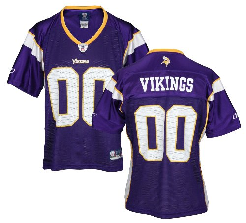 Minnesota Vikings NFL Womens Team Replica Jersey, Purple (Small, Purple)