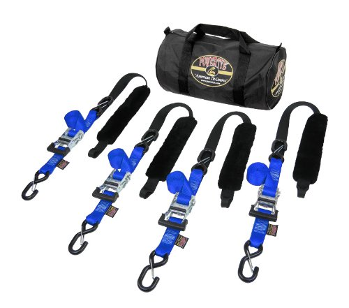 """1½"""" x 7ft Fat Strap Deluxe American-Made Trailer Kit, Blue"""