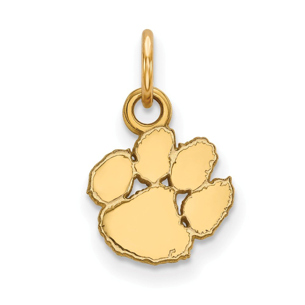 Solid 925 Sterling Silver with Gold-Toned Clemson University Extra Small Pendant