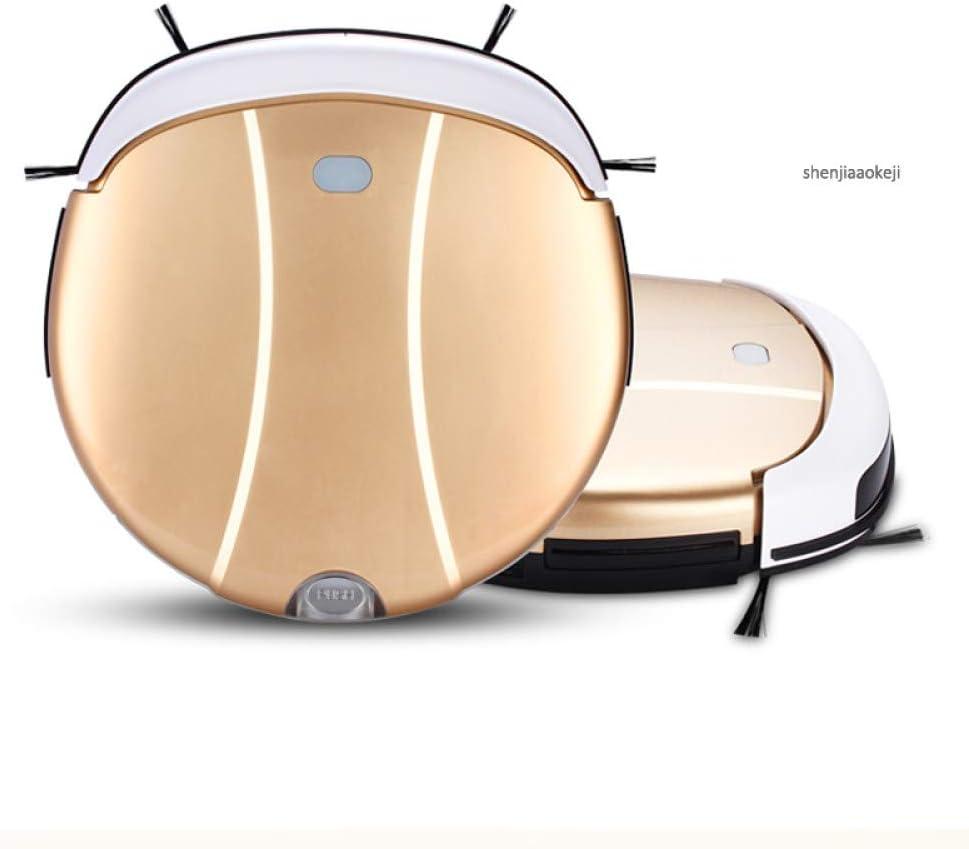 ZLAHY Robot de balayage Balayeuse domestique Aspirateur intelligent Balayage ultra-mince Balayeuse Aspiration Balayeuse Robot Balayeur, Or Or