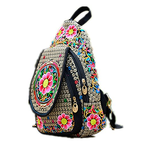 TOMATO-smile - Bolso mochila  para mujer multicolor verde manzana Estilo 4