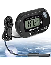 AikTryee Aquarium Thermometer, Fish Tank Thermometer, Water Thermometer with LCD Display Fahrenheit/Celsius(℉/℃) for Vehicle Reptile Terrarium Fish Tank Refrigerator
