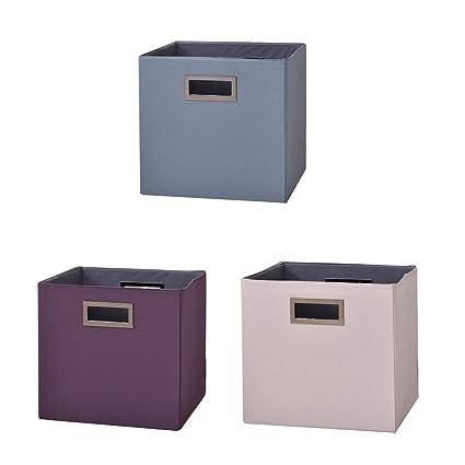 BOXLeader Caja de Superior Caja de 3 Pack Plegable Plegable Caja Organizador Plegable plástico Caja Cajas