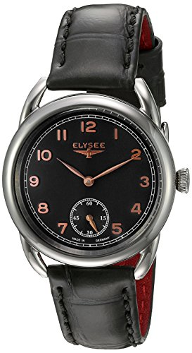 ELYSEE Women's 80541 Ladies-Edition Analog Display Quartz Black Watch
