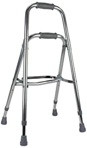Days Hemi Walker, Mobility Aid for Elderly, Handicapped, Disabled users, One Arm or Hand Walker, Folding Walker, Aluminum Support Walker, Height Adjustable, Weight Capacity of Up to 300 Pounds