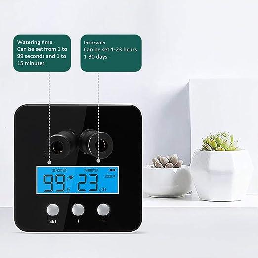 LTLCBB Emporizador Agua Automático, Controlador Sistema Riego Jardín, Electrónico Pantalla LCD, Inteligente Caja Temporizador Riego: Amazon.es: Hogar