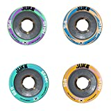 Atom Juke 4.0 Quad Roller Skate Wheels with Nylon Hub 59x38mm 91A Hardness 8pk + Devaskation Bag New for 2016