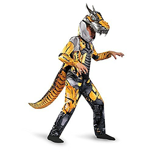 Boy Transformer Costume (Transformers Age of Extension Grimlock Deluxe Boys Costume, 7-8)