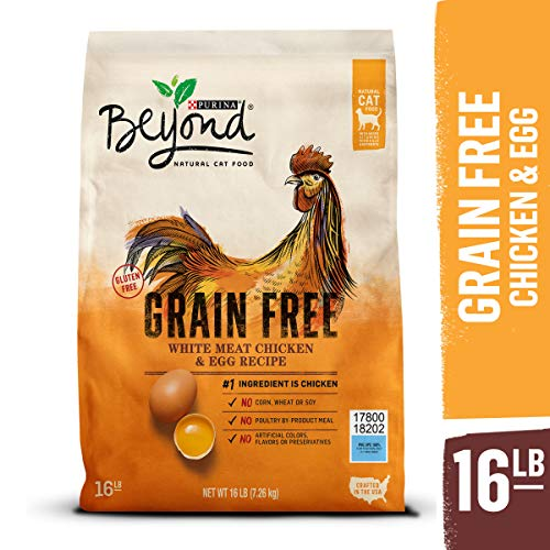 Purina Beyond Grain Free, Natural Dry Cat Food, Grain Free White Meat Chicken & Egg Recipe – 16 lb. Bag
