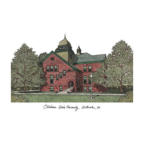 Campus Images Oklahoma State University Campus Images Lithograph Print