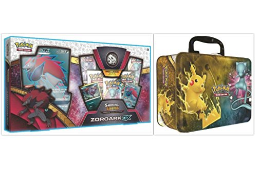 Pokemon Trading Card Game Shining Legends Zoroark GX Premium Collection Box and 2017 Shining Legends Collectors Chest Bundle, 1 of Each