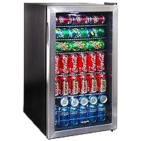 Refrigerador de bebidas NewAir AB-1200, 126 latas, acero inoxidable