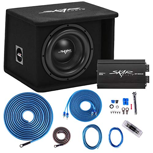 Skar Audio Single 10″ Complete 1, 200 Watt Sdr Series Subwoofer Bass Package – Includes Loaded Enclosure with Amplifier