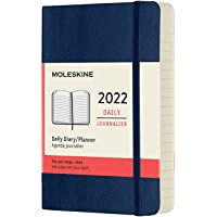 Moleskine DSB2012DC2Y22 - Agenda diaria de 12 meses con tapa blanda, 2022, formato de bolsillo 9 x 14, color azul zafiro