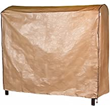 """Abba Patio Outdoor 3 Triple Seater Hammock Swing Glider Canopy Cover, All Weather Protection, Water Resistant, 80""""L x 57""""W x 72""""H"""