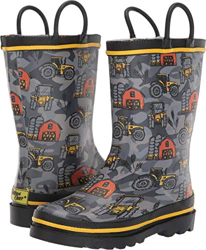 nisex Limited Edition Printed Rain Boots (Toddler/Little Kid/Big Kid) Farmhand Charcoal 8 M US Toddler ()