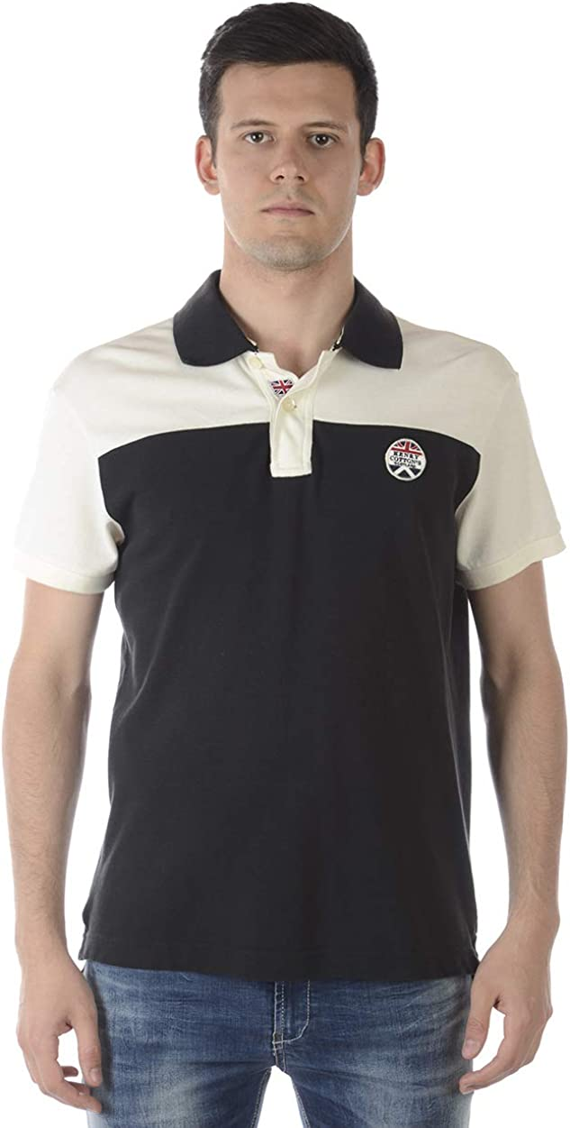 HENRY COTTON Men/'S Polo Shirt 834545084641 Black