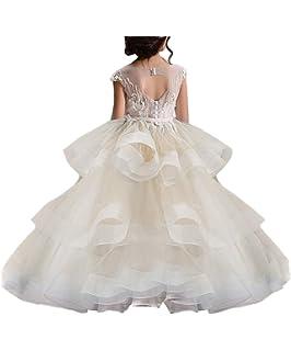 Amazon.com: Hengyud - Vestidos de primera comunión, coral ...