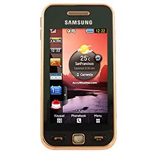 Samsung S5230 Tocco Lite Unlocked Phone with Quad-Band GSM, 3 MP Camera MP3/Video Player and MicroSD Slot--International Version No Warranty (Black Gold)