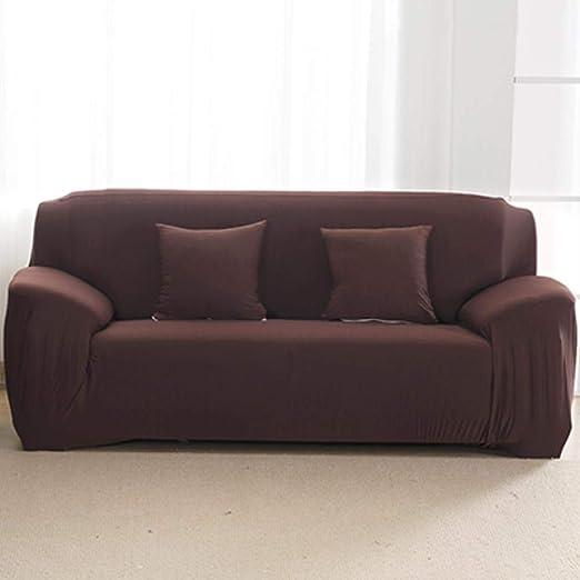CCMOO Funda de sofá Fundas de sofá Algodón Sala de Estar Funda de sofá Funda de sofá elástica Fundas de Asiento elásticas, Chocolate, 1 Asiento: Amazon.es: Hogar