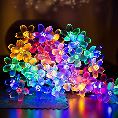 Save 20% Blossom - Solar Powered LED String Lights,MINGER 20ft 30 LED Flower Blossom Decorative Light Solar Fairy Lights, Garden Lights for Outdoor, Home, Lawn, Wedding, Patio, Party and Holiday Decorations